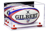 Mirrored Rugby Ball Display Case