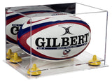 Clear Based Rugby Ball Display Case