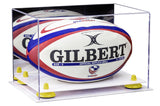 White Based Rugby Ball Display