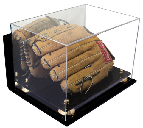 Baseball Glove<br>Display Case<br>with Mirror and Wall Mount (A004)<br> <sub> For MLB, NCAA, and more </sub>, Display Case, Better Display Cases, Better Display Cases - Better Display Cases