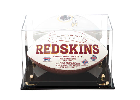 Full Sized Football <br> Mirrored Display Case <br> Wall Mount<br> <sub> NFL, NCAA, and more! </sub>, Display Case, Better Display Cases, Better Display Cases - Better Display Cases