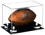 MINI - Miniature (not full size) Football<br> Clear Display Case <br><sub> NCAA, NFL, and More! </sub>, Display Case, Better Display Cases, Better Display Cases - Better Display Cases