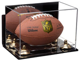 Acrylic Mini - Miniature (not Full Size) Football Display Case with Mirror, Wall Mount, Risers and Clear Base