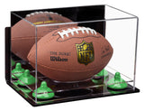 Small Football Display Case with Risers