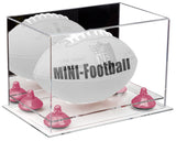 Mirrored Mini Football Display Case with Risers