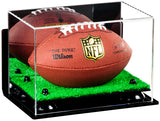 Mini - Miniature (not Full Size) Football Mirrored Display Case with Wall Mount and Turf Base<br> <sub> For NBA, NCAA, and more </sub>, Display Case, Better Display Cases, Better Display Cases - Better Display Cases