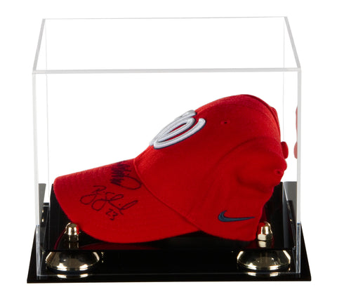 a780fadadcb Deluxe Acrylic Clear Display Case for Collectible Sports Baseball Hat or Cap  with UV Protection