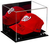Baseball Cap<br>Display Case with<br>Mirror and Risers (A006)<br><sub>For MLB, NCAA, and more</sub>, Display Case, Better Display Cases, Better Display Cases - Better Display Cases
