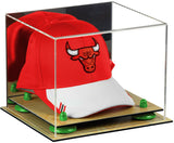 Mirrored Basketball Hat or Cap Display Box with Risers