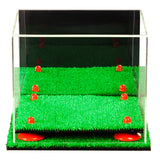 "Versatile Deluxe Acrylic Display Case - Small Rectangle Box with Risers, Mirror and Turf Base 8.75"" x 7.75"" x 7"" (A006-TB), Display Case, Better Display Cases, Better Display Cases - Better Display Cases"