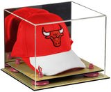 Mirrored Basketball Cap Case with Risers