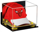 Wall Mounted Basketball Hat or Cap Display Box with Risers