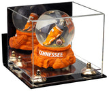 Versatile Acrylic Display Case - Small Rectangle Box with Mirror, Wall Mount, Risers and Clear Base 8.75x7.75x7