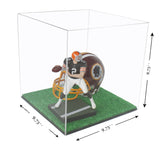 "Versatile Deluxe Acrylic Display Case - Small Square Box with Turf Bottom <br><sub>(Clear or Mirror) <br>9.75"" x 9.75"" x 9.75"" (A007-TB), Display Case, Better Display Cases, Better Display Cases - Better Display Cases"