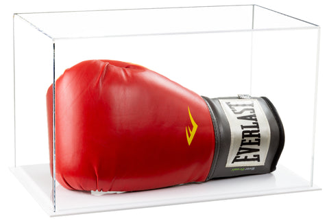 White Based Clear Boxing Glove Display Case
