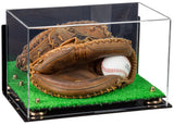 catchers glove case, risers, mirror case, wall mount, turf base