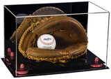 Acrylic Baseball Catchers Glove Display Case with Mirror and Risers (A011)<br> <sub> MLB, NCAA, and more! </sub>
