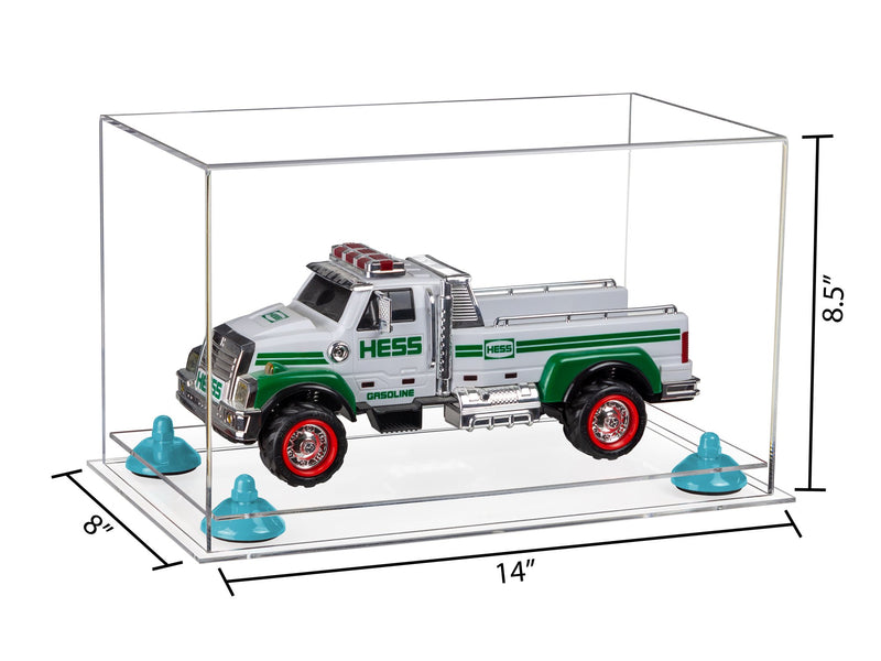 14x8x8.5 Clear Acrylic Medium Display Box with Clear Base