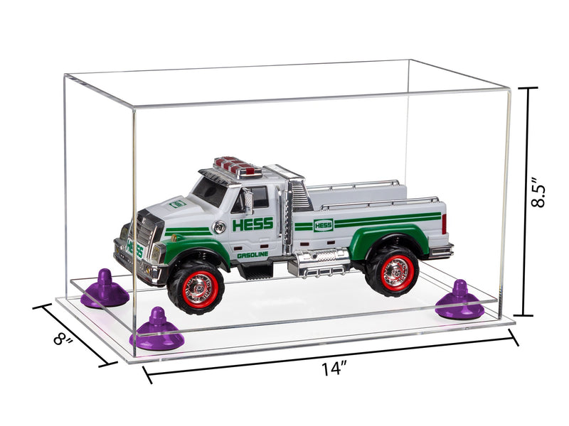 14x8x8.5 Clear Medium Display Box with Risers