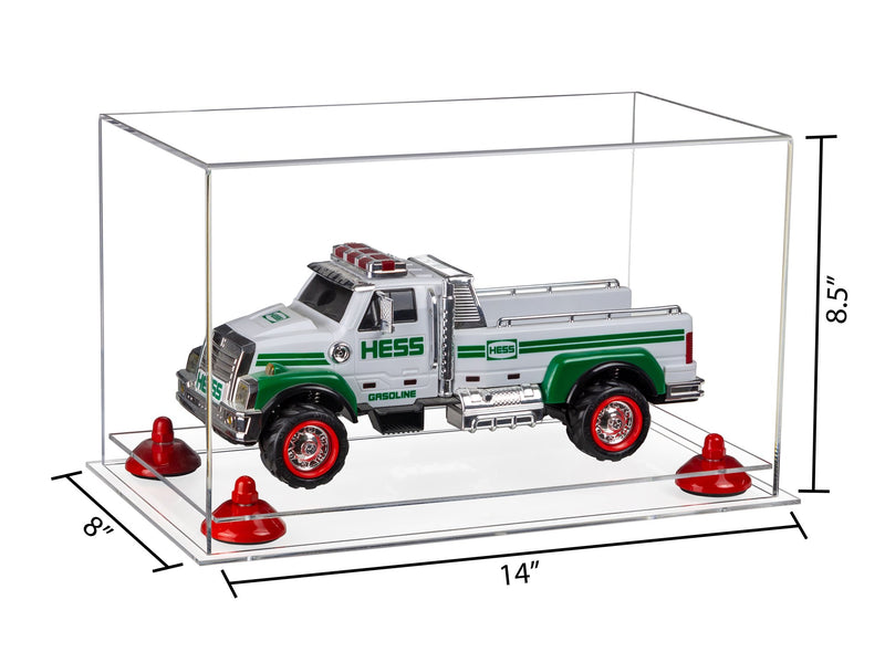 14x8x8.5 Medium Display Case with Clear Base