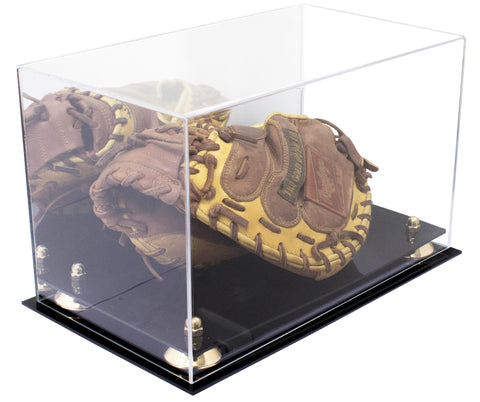 Catchers Mitt <br> Display Case <br> With Mirror<br> <sub> MLB, NCAA, and more! </sub> - Better Display Cases