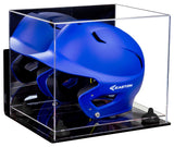 Baseball Batting Helmet Display Case with Risers