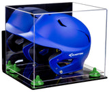 Baseball Batting Helmet Display Case with Clear Base