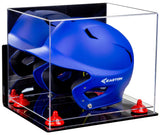 Mirrored Baseball Batting Helmet Display Case with Wall Mount