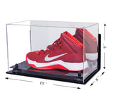 Deluxe Acrylic Large Shoe Display Case for Basketball Shoe Soccer Cleat Football Cleat with Risers, Mirror and Wall Mount (A013) <br> <sub> For NBA, NCAA, and more </sub>, Display Case, Better Display Cases, Better Display Cases - Better Display Cases