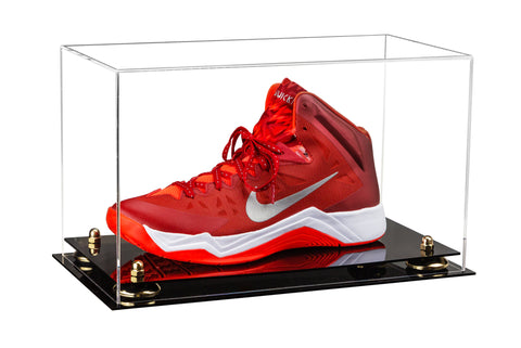 Deluxe Clear Acrylic Large Shoe Display Case for Basketball Shoes Soccer Cleats Football Cleats with Risers (A013)<br> <sub> For NBA, NCAA, and more </sub>