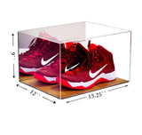 Basketball Shoe Display Case with Wood Floor<br> <sub> For NBA, NCAA, Display Case, Better Display Cases, Better Display Cases - Better Display Cases