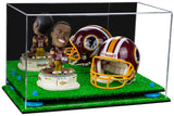 "Versatile Deluxe Acrylic Display Case - Medium Rectangle Box with Mirror, Risers and Turf Base 15"" x 8"" x 9"" (A013-TB), Display Case, Better Display Cases, Better Display Cases - Better Display Cases"