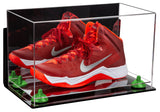 Basketball Shoe Soccer Cleat Football Cleat Display Case with Clear Base