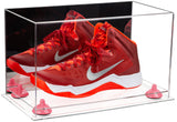 Mirrored Basketball Shoe Soccer Cleat Football Cleat Display Box with Clear Base