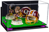 "Versatile Deluxe Acrylic Display Case - Medium Rectangle Box with Mirror, Wall Mount, Risers and Turf Base 15"" x 8"" x 9"" (A013-TB), Display Case, Better Display Cases, Better Display Cases - Better Display Cases"