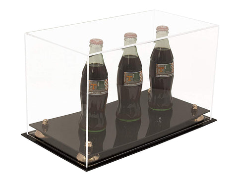 "Versatile Deluxe Clear Acrylic Display Case - Medium Rectangle Box with Risers 15"" x 8"" x 9"" (A013), Display Case, Better Display Cases, Better Display Cases - Better Display Cases"