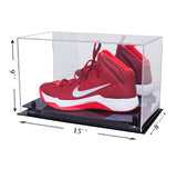 Deluxe Acrylic Large Shoe Display Case for Basketball Shoes Soccer Cleats Football Cleats with Risers and Mirror (A013)<br> <sub> For NBA, NCAA, and more </sub>, Display Case, Better Display Cases, Better Display Cases - Better Display Cases