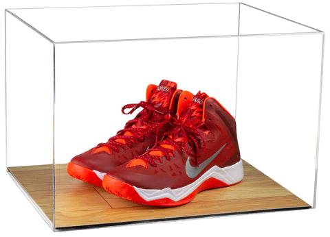 Wood Based Clear Basketball Shoe Pair Display Case