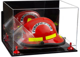 Mirrored Fireman's Helmet Display Case with Wall Mount