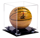 Mini Basketball <br> Clear Display Case <br><sub> NCAA, NBA, and More! </sub> - Better Display Cases - 2