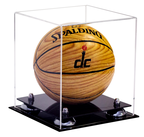 better display cases mini basketball clear display case. Black Bedroom Furniture Sets. Home Design Ideas