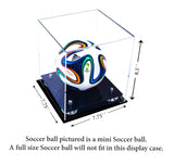 MINI - Miniature (not full size) Soccer Ball <br> Clear Display Case <br><sub> FIFA, NCAA, and More!, Display Case, Better Display Cases, Better Display Cases - Better Display Cases