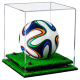 Mini Soccer Ball Display Case with Risers