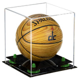 mini basketball case, with risers, clear case, black base