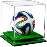 Clear Mini Soccer Ball Display Box with Risers