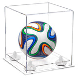Mini Acrylic Soccerball Display Case with Risers