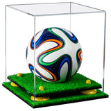 Mini Soccer Ball Display Case with Turf Base