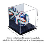 MINI - Miniature (not full size) Soccer Ball <br> Mirrored Display Case <br><sub> FIFA, NCAA, and More!, Display Case, Better Display Cases, Better Display Cases - Better Display Cases