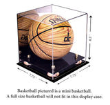 Deluxe Acrylic MINI - Miniature (not full size) Basketball Display Case<br><sub> NCAA, NBA, and More! </sub>, Display Case, Better Display Cases, Better Display Cases - Better Display Cases