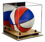 Mini Basketball Display Case with Risers